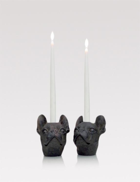 Dog candle stick