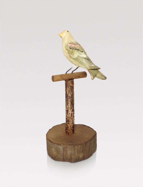 Handmade wooden bird
