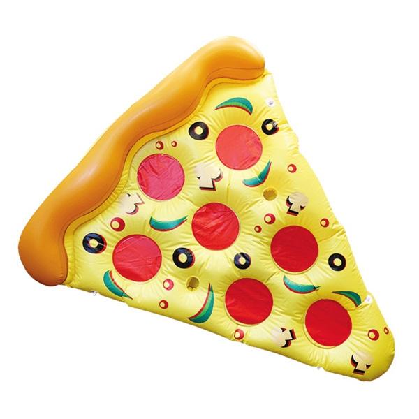 Pizza Luftmadrass med Drinkhållare