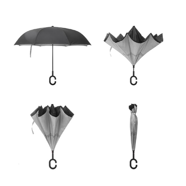 Smart paraply mot regn man omvänd stängning