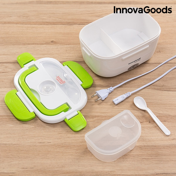 Elektrisk lunchbox med olika delar