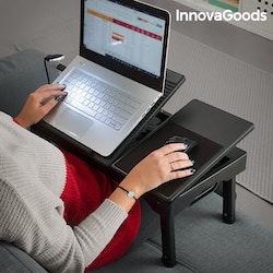Hopfällbart Laptopbord Med LED