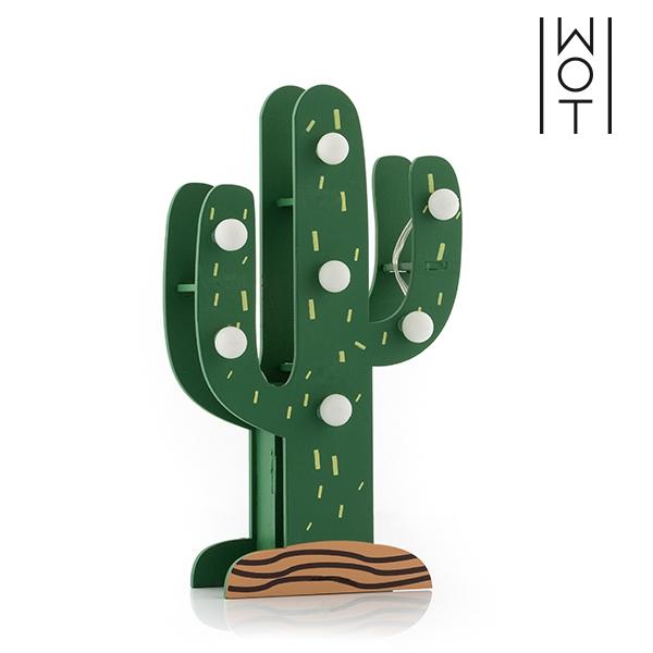 Kaktuslampa i Trä