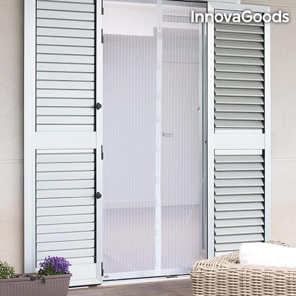 Myggnätsdörr med Magneter vit
