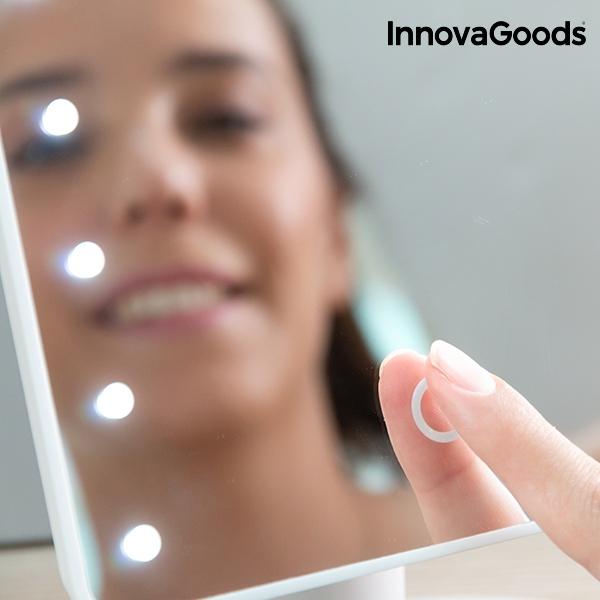 Sminkspegel med LED-belysning 16 vita ljus