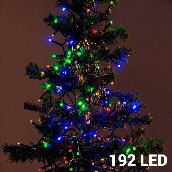 Flerfärgad Julbelysning 192 LED