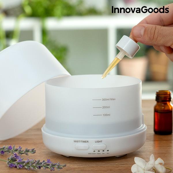 Luftfuktare med Doft och LED fylles med aromaolja