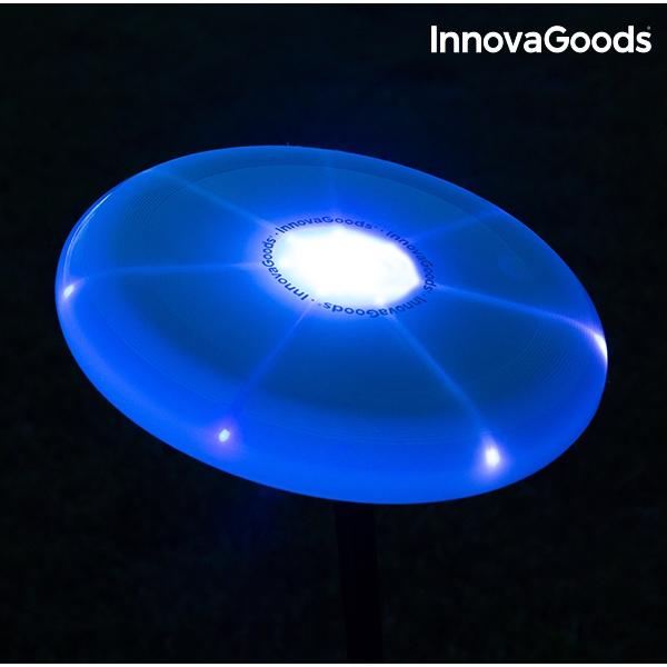 Multifärgad LED-belyst Frisbee