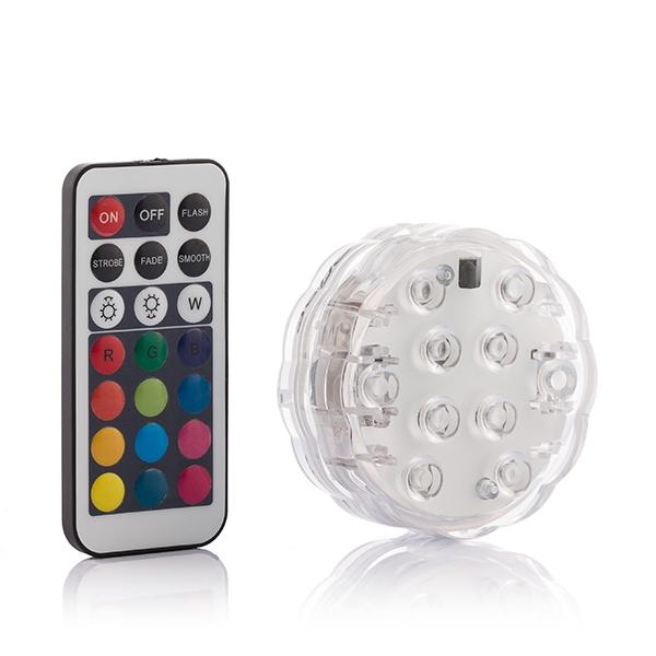 Vattenlampa med LED och fjärrkontroll