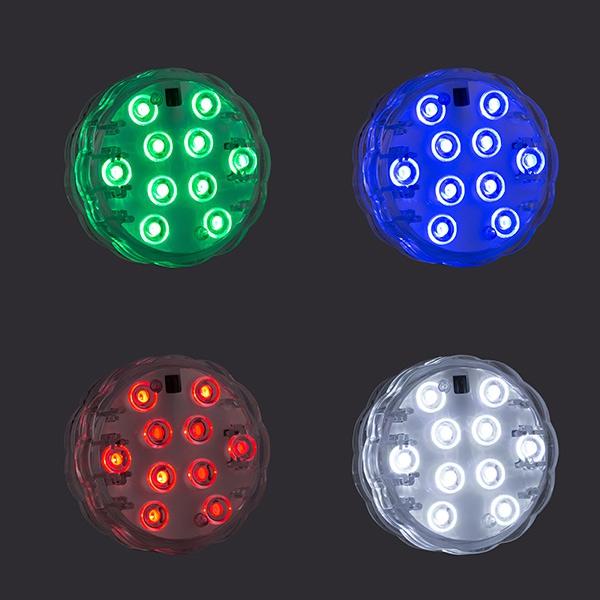 Vattenlampa med olika LED färger