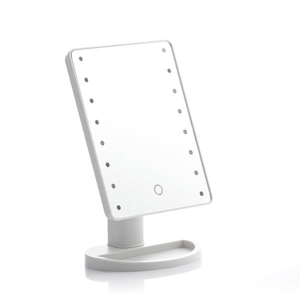 Sminkspegel med LED-belysning vit