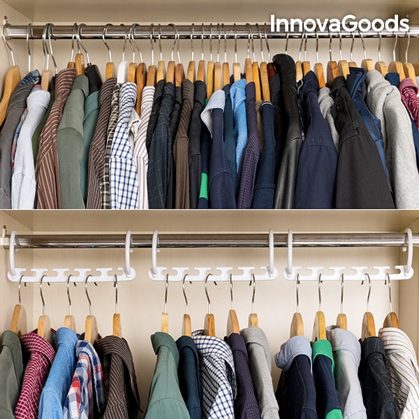 Multi-klädhängare som sparar plats i garderoben