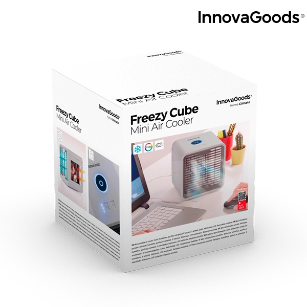 Freezy Cube Luftkylare med LED