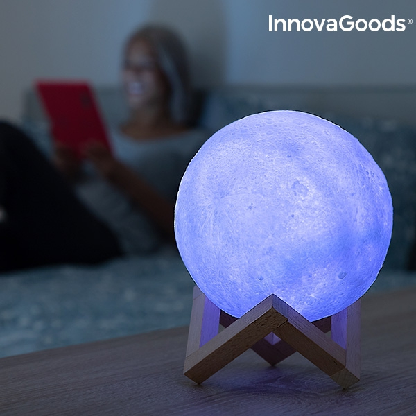 Månlampa LED Multicolor med Fjärrkontroll Uppladdningsbar
