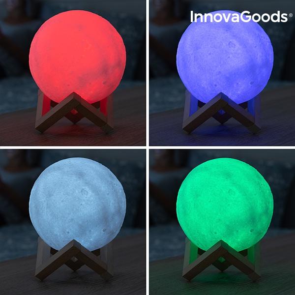 Månlampa Moonlamp i flera färger LED
