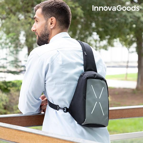 Stöldsäker ryggsäck med ett axelrem