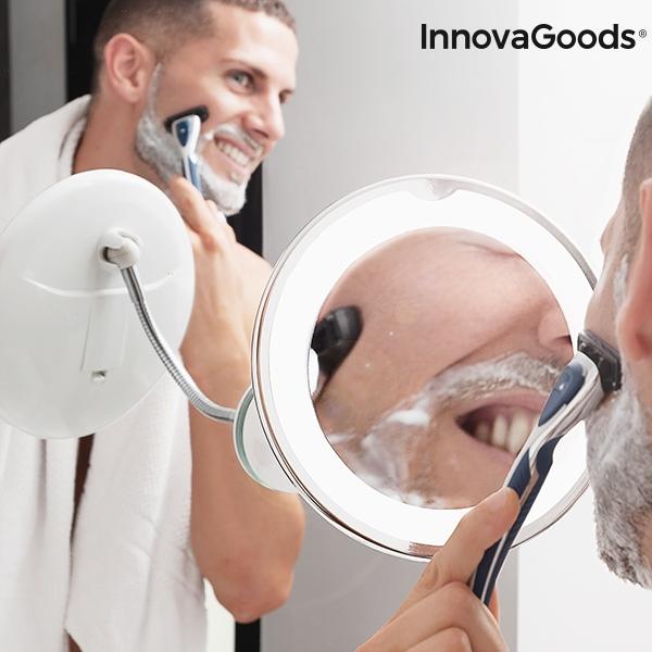 Förstorande Rund Sminkspegel med LED för rakning