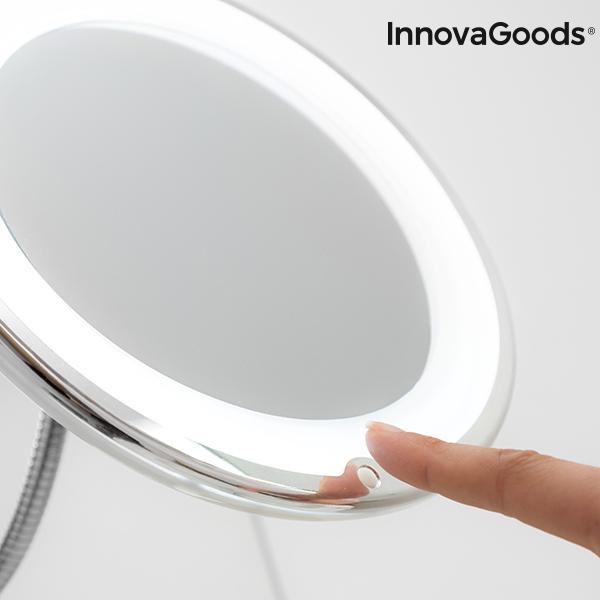 Förstorande Rund Sminkspegel med LED med vitt ljus
