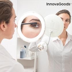 Förstorande Rund Sminkspegel med LED