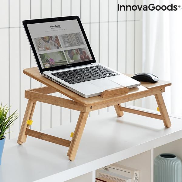 Hopfällbart Laptopbord Av Bambu