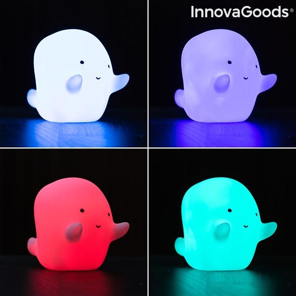 Nattlampa spöke i flera olika färger