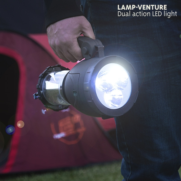 Campinglykta med Ficklampa LED