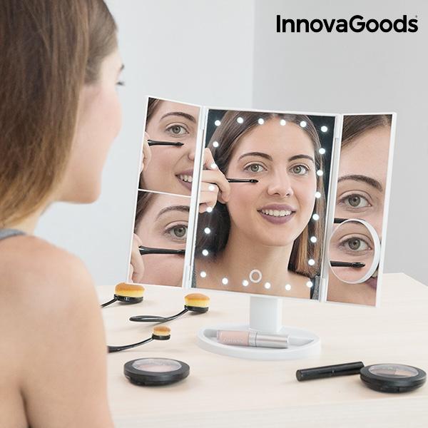 Sminkspegel med förstoring och belysning