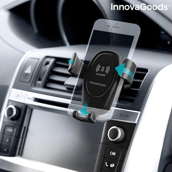 bilhållare för mobiler med trådlös laddare