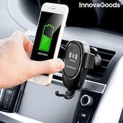 Mobilhållare med Trådlös Laddare för Bil