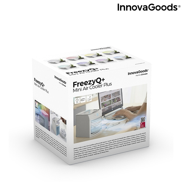 Bärbar Luftkylare med LED Freezyq+