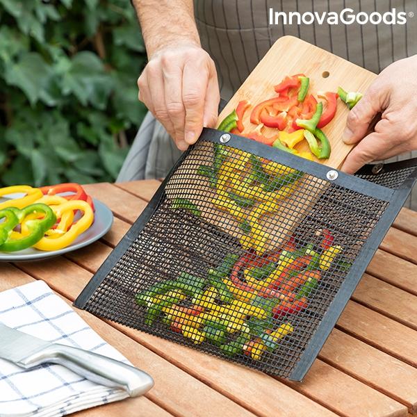 Lättanvänd grillpåse i mesh-nät