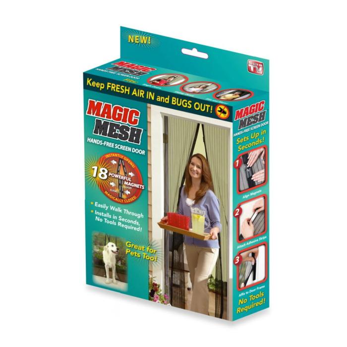 Myggnätsdörr med magneter svart Magic Mesh
