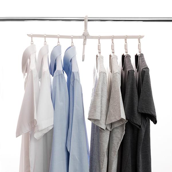 Smart multi klädhängare med vikbara galgar