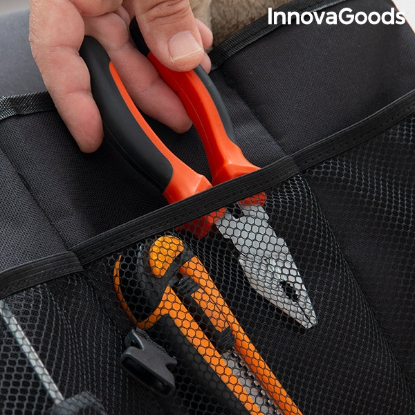 Förvara verktyg i bilen med en vikbar förvaringslåda