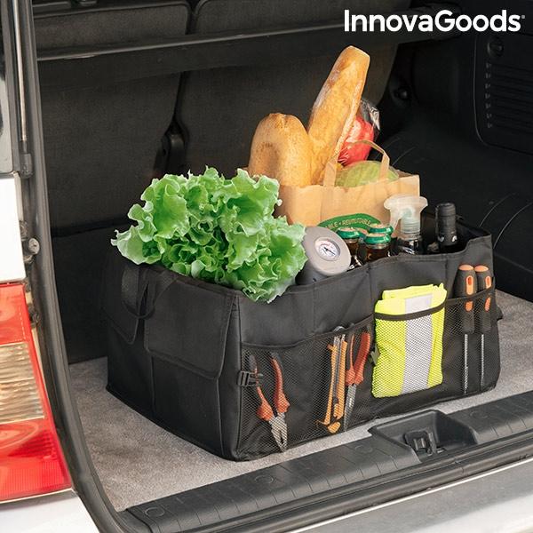 Vikbar förvaringslåda för bilens baklucka