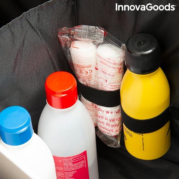 Vikbar låda för flaskor till bilen