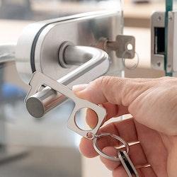Hygienisk Nyckelring med Dörröppnare
