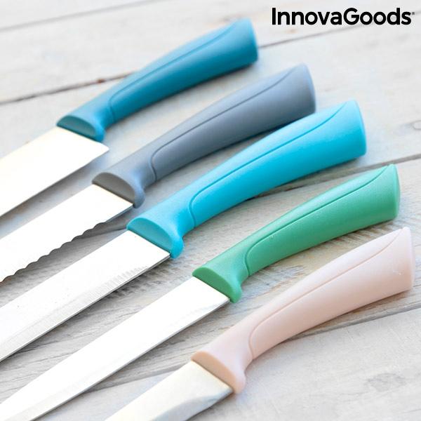 Knivset 5 delar i olika färger