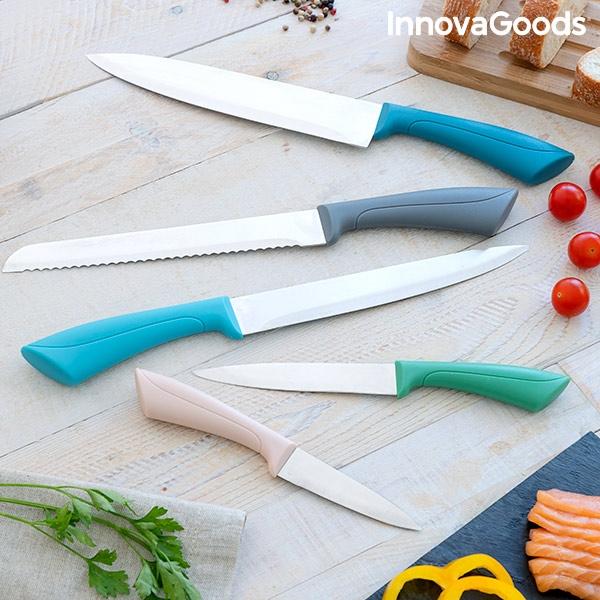 Knivset 5 delar brödkniv, köttkniv och grönsakskniv