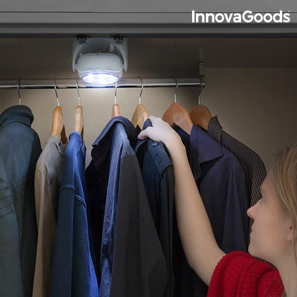 Justerbar rörelselampa med infraröd för garderoben