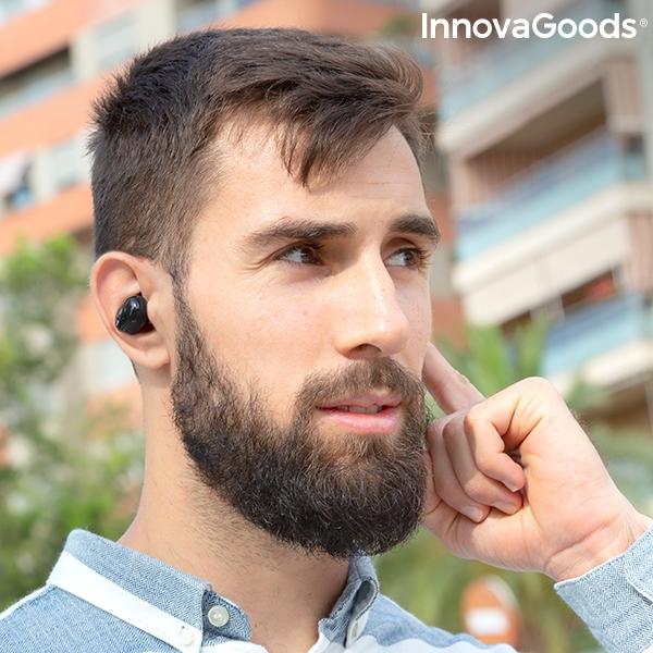 Smarta trådlösa hörlurar in-ear med trådlös laddning
