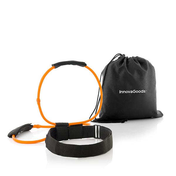 Bälte med träningsband för rumpa, mage och ben