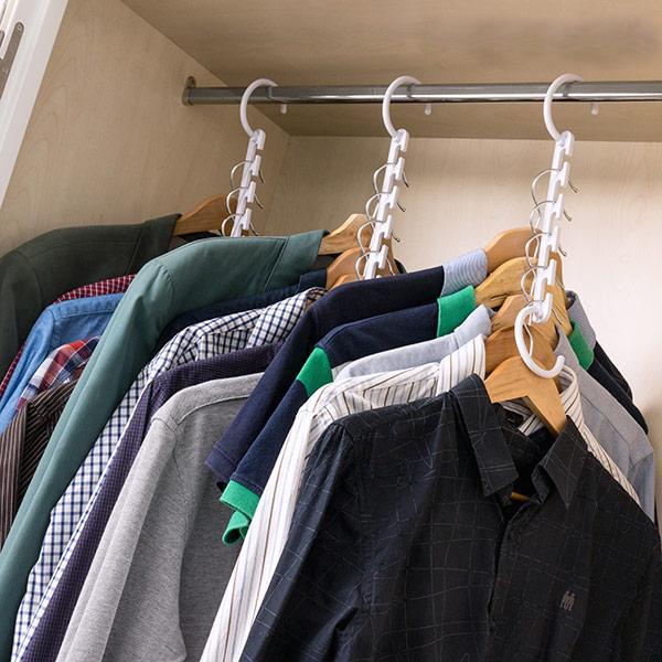 Multi-klädhängare för garderob