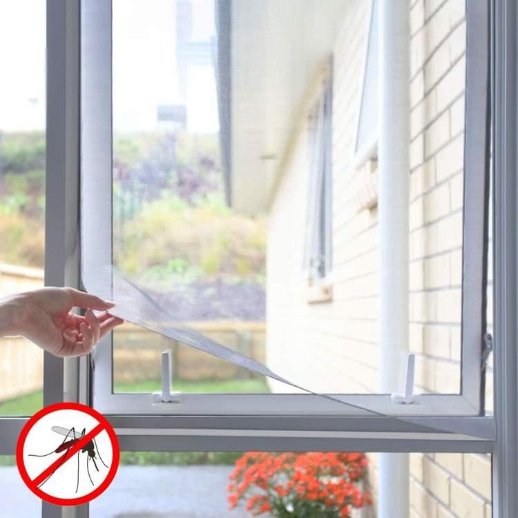 Självhäftande Myggnät för Fönster Vit