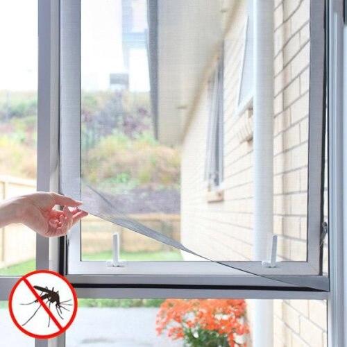 Justerbart Myggnät för Fönster Svart