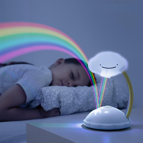 Nattlampa regnbåge för barn