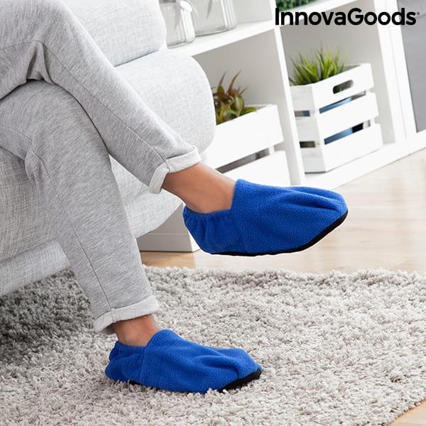 Mikrotofflor Värmetofflor InnovaGoods Blå