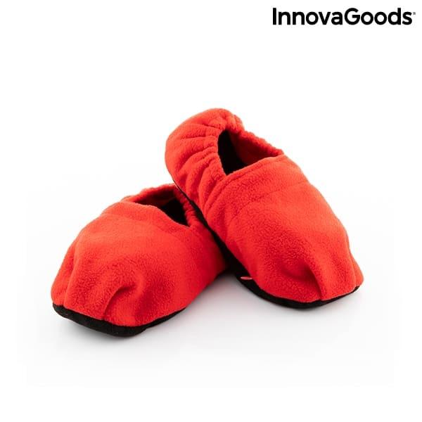 Mikrotofflor Värmetofflor InnovaGoods Röd