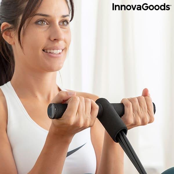 Träna biceps hemma med träningsband från InnovaGoods