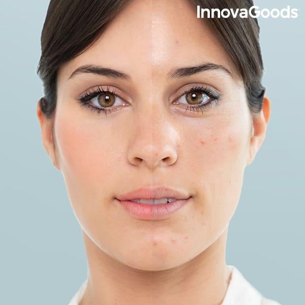 Före och efter rengöring med ansiktsbastu